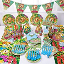 High quality 90-Piece Disposable Cutlery Set, Theme Party Decorations, for Birthdays, Children's Baptism (6 People) (Color...