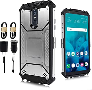 LG Stylo 4 Case, LG Q Stylo Case, Feather Light Aluminum Metal Rugged Cover, Composite Case for LG Stylo 4 Plus/LG Stylus 4 [Value Bundle] (Silver)