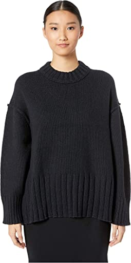 Wool Blend Crew Long Sleeve Sweater