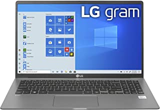 "LG Gram Laptop - 15.6"" Full HD IPS , Intel 10th Gen Core i5-1035G7 CPU, 8GB RAM, 256GB M.2 MVMe SSD, 18.5 Hours Battery, T..."