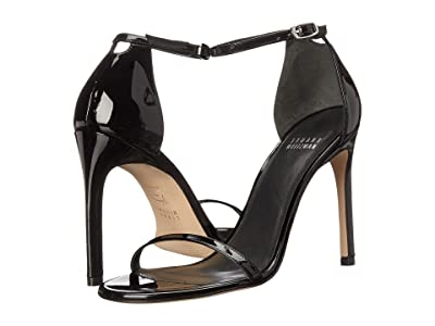Stuart Weitzman Nudistsong Ankle Strap Sandal (Black Patent Leather) Women