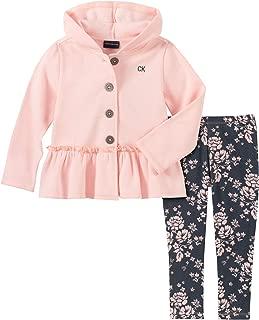 Calvin Klein 女童 2 件套夹克裤子套装