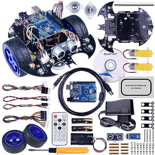 Robot Arduino, Quimat Coche Robótica con Tutorial de Vídeo en Castellano,UNO R3 Board