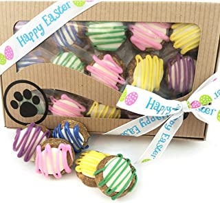 Easter Dog Treats Wheat Free Soft Chew Handmade Peanut Butter Decorated Gift wrapped Box Gourmet Dog bakery Girl Dog Boy Dog Gift