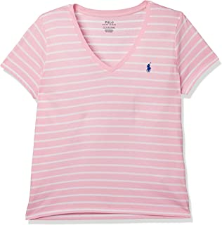 Polo Ralph Lauren-211698035005-Women-Tops-Rose/White-Xl