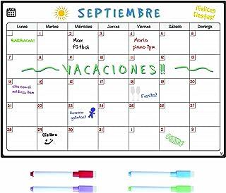 comprar comparacion Smart Panda Calendario Magnético para Nevera - Ideal Planificador de Menú, Recordatorio, Lista de la Compra - Pizarra Magn...