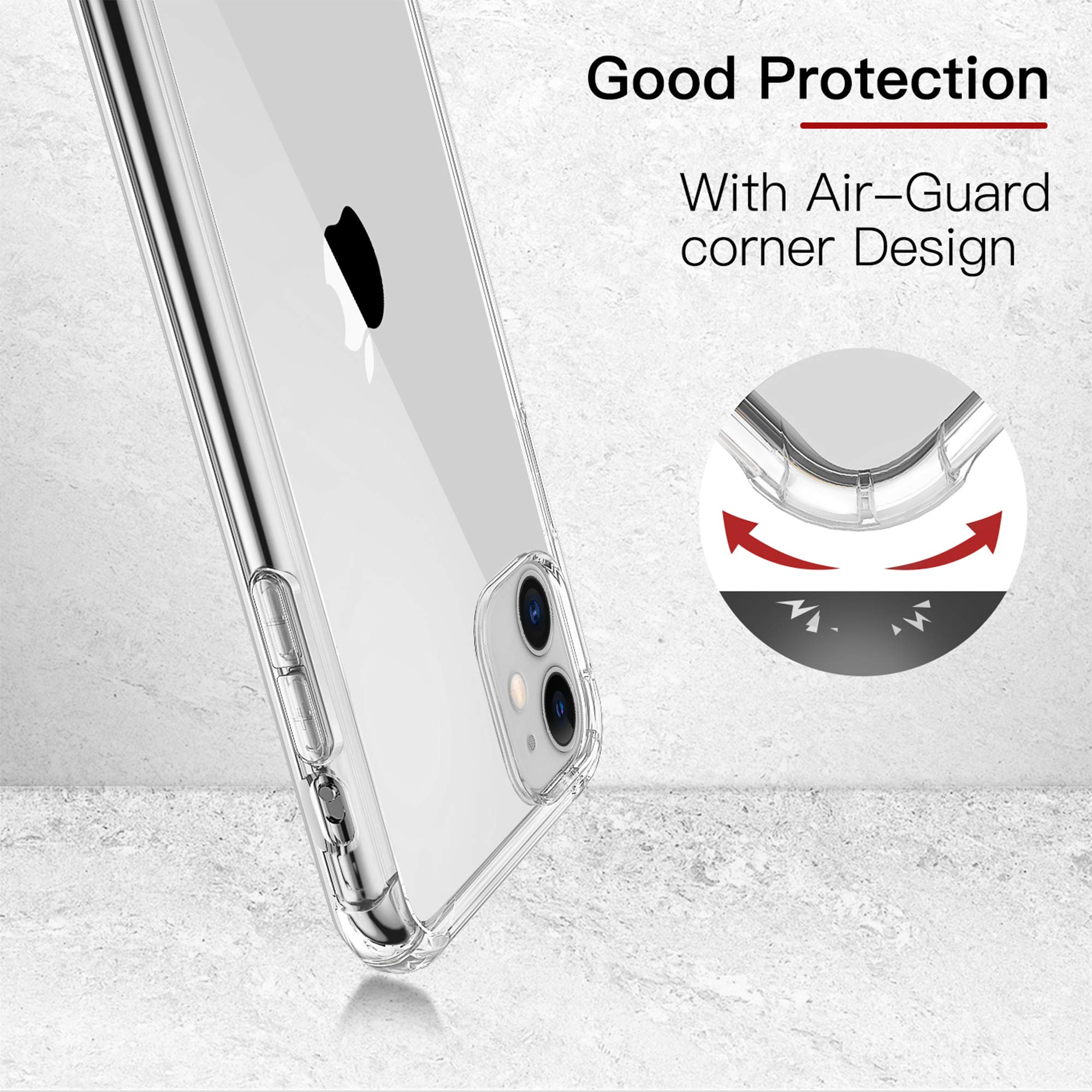 ULuck Case Compatible with Iphone 11, Crystal Clear Anti-Yellow Ultra Slim Soft TPU Silicone Shockproof, Anti-Scratch phone Case Cover - Pure Clear (6.1 inch)