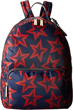 Julia Star Nylon Large Dome Backpack