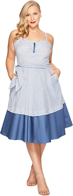 Unique Vintage - Plus Size Lonestar Swing Dress