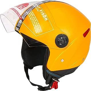 JMD HELMETS Grand Open Face Helmet (Yellow, Large)