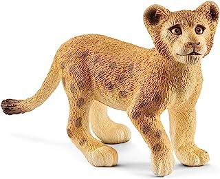 Schleich Lion Cub Toy Figure, Brown