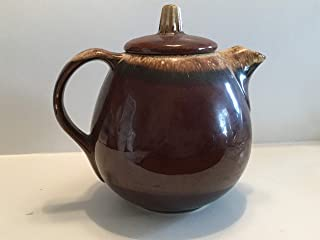 Hull Pottery Co. Stoneware Pitcher, Brown Drip Tea Pot, Hull Pottery, Hull Pottery Tea Pot