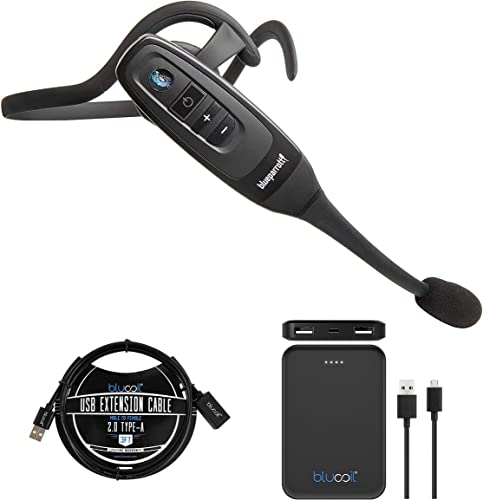 wholesale BlueParrott C400-XT Voice-Controlled Bluetooth Headset with 96% Noise Canceling Microphone for high quality iOS and Android Bundle with Blucoil 5000mAh Portable Power Bank, and high quality 3-FT USB 2.0 Type-A Extension Cable online