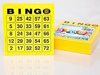 DiPrint 200 grote bedrukte Bingo-kaarten voor seniorensysteem 25 vanaf 75 (geel)