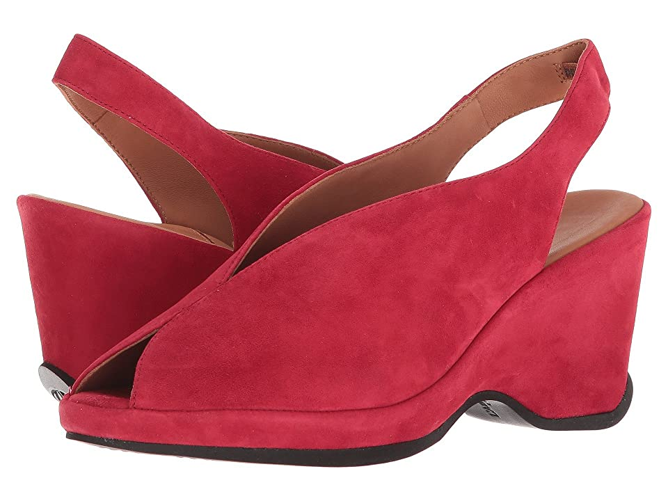 1940s Style Shoes, 40s Shoes LAmour Des Pieds Odetta Bright Red Kid Womens Sandals $219.00 AT vintagedancer.com