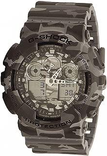 Casio G-Shock Men's GA-100 Camouflage Watch, Grey, One Size