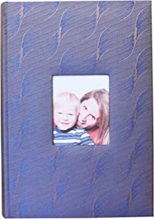 AITIME Silk Fabric Cover Photo Album with Memo Space, Large Capacity Picture Album 4x6 Hold 300 Photos, Photography Book for Family Wedding Anniversary Vocation Baby School Photos (Violet Blue)