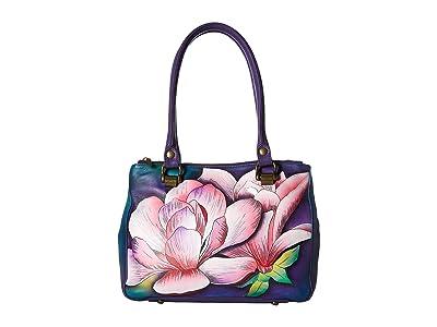Anuschka Handbags 626 Triple Compartment Medium Tote (Magnolia Melody) Handbags