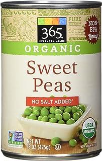 365 Everyday Value Organic Sweet Peas No Salt Added, 15 oz