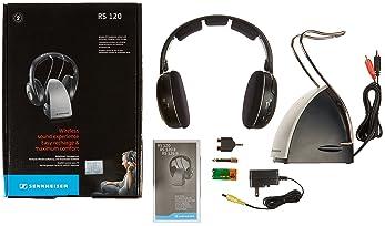 Sennheiser RS120 On-Ear Wireless RF Headphones with Charging Cradle