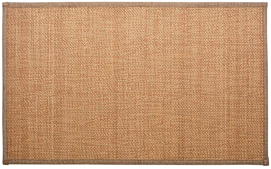 副元のグローバル萩原 玄関マット ベージュ 約45×75cm 竹マット ウレタン入り 「カナパ2」 240605024