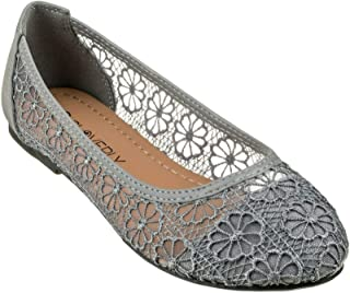Women's Ballet Shoe Floral Breathable Crochet Lace Ballet Flats