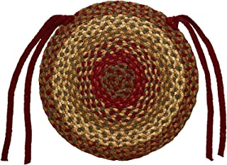 IHF Home Decor Cinnamon Braided Rug | Chair Cover Pad Round | 100% Natural Jute Material Fiber 15