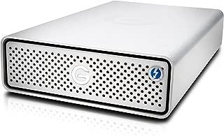 G-Technology 6TB G-DRIVE with Thunderbolt 3 and USB-C Desktop External Hard Drive, Silver - 0G05368