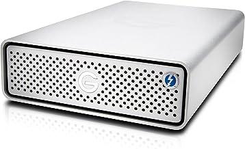G-Technology 10TB G-DRIVE with Thunderbolt 3 and USB-C Desktop External Hard Drive, Silver - 0G05378-1