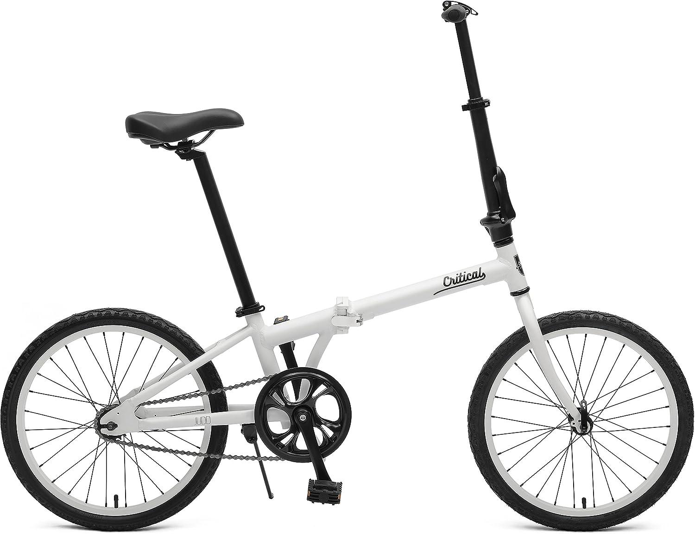 Critical Cycles Judd Folding Single Speed Bike with Coaster Brake, Matte Eggshell, 26 cm One Size