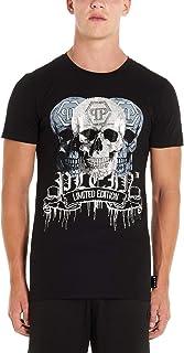 PHILIPP PLEIN Men's F19CMTK3672PJY002N02 Black Cotton T-Shirt