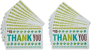 Amazon.com $15 Gift Cards, Pack of 20 (Thank You Card Design)