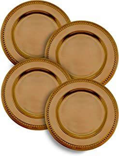 Dotted Gold Charger Plate, Dinner Setting - 14