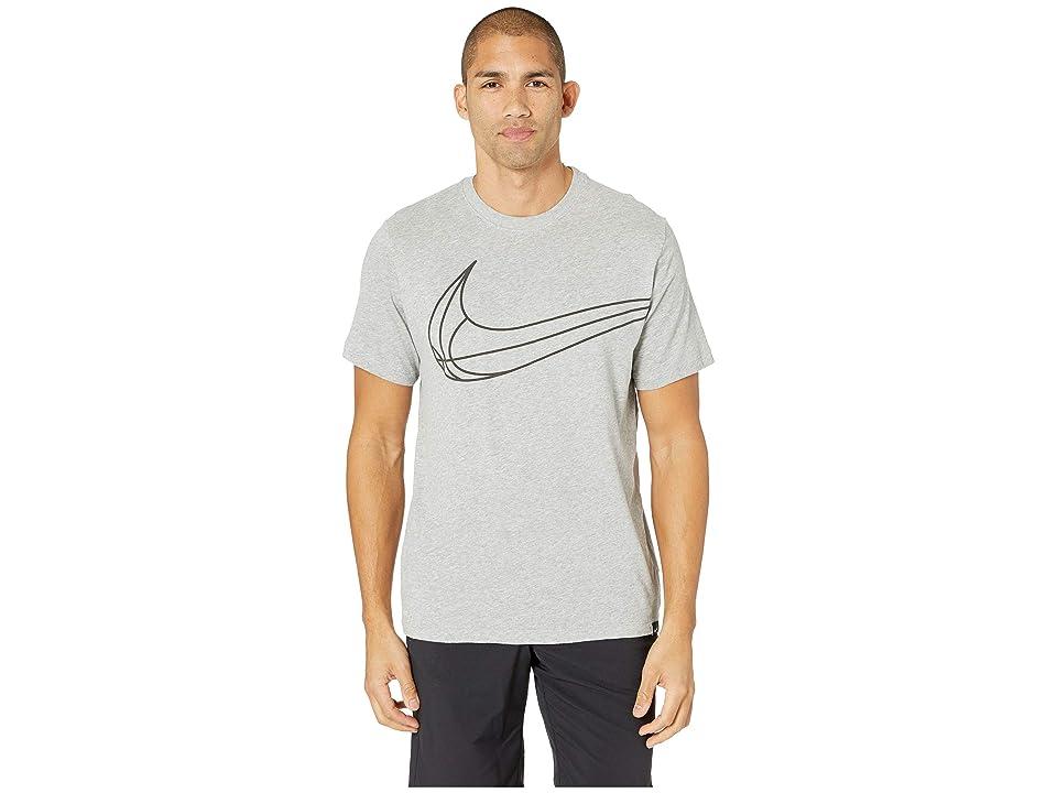 Nike Dry Tee Swoosh Ball (Dark Grey Heather) Men