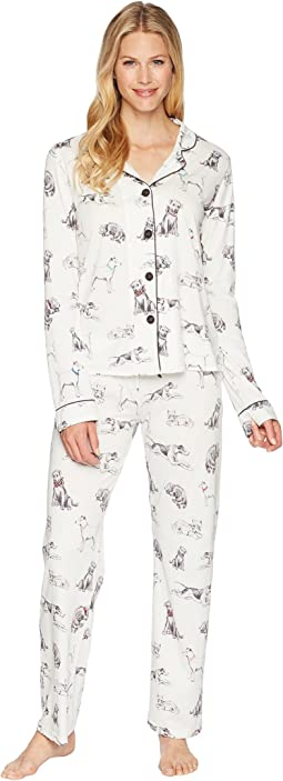 P.J. Salvage Playful Prints Dog PJ Set