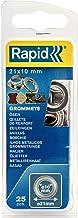 Rapid Oogjes met schijven 10 mm, 25 stk. Set incl. inslaggereedschap, zilverkleurig staal