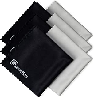 Garnetics Microfiber Cleaning Cloth (6 Pack) - to Clean Glasses, Lens, Cell Phone, Tablet, Laptop, TV, LED, LCD Screens - Premium Lintfree Fiber - Computer Screen and Eyeglass Cleaner