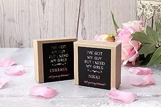 Silver Foil Asking Bridesmaid Gift Box