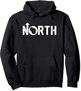 Vintage Up North Wisconsin Distressed Text Pullover Hoodie