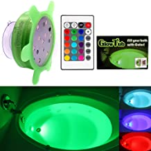 GlowTub Underwater Remote Controlled LED Color Changing Light for bathtub or spa - Battery Operated