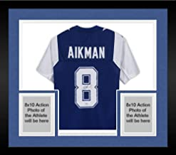 Framed Troy Aikman Dallas Cowboys Autographed Blue Alternate Mitchell & Ness Authentic Jersey - Fanatics Authentic Certified