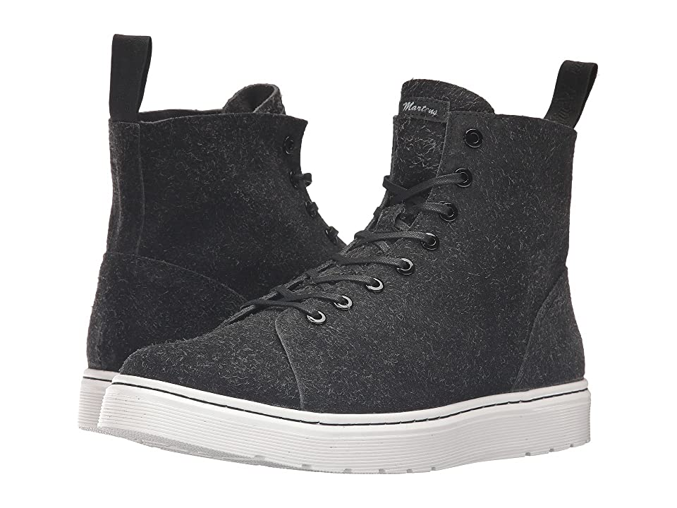 Dr. Martens Talib 8-Eye Raw Boot (Black Wooly Bully) Lace-up Boots