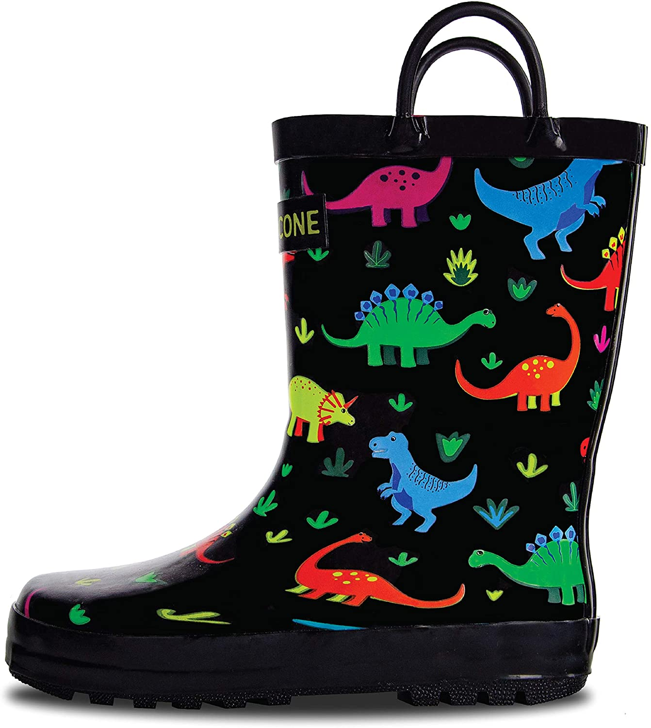 LONECONE Rain Ultra-Cheap Deals Boots It is very popular with Easy-On Patterns Fun in Handles Solid