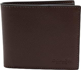 Mens Double Billfold Sport Calf Wallet 75084 Mahogany