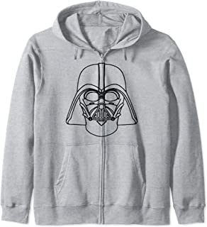 Star Wars Darth Vader Line Art Helmet Sweat à Capuche