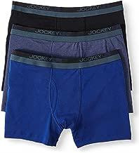Jockey Life 3-Pack Men's 24/7 Comfort Cotton Blend Boxer Briefs - Assorted Colors