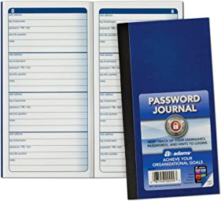 Adams Password Journal, 6.25 x 3.25 Inches (APJ99)