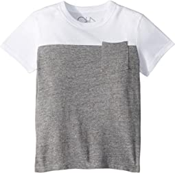 Extra Soft Two-Toned Pocket Tee (Toddler/Little Kids)
