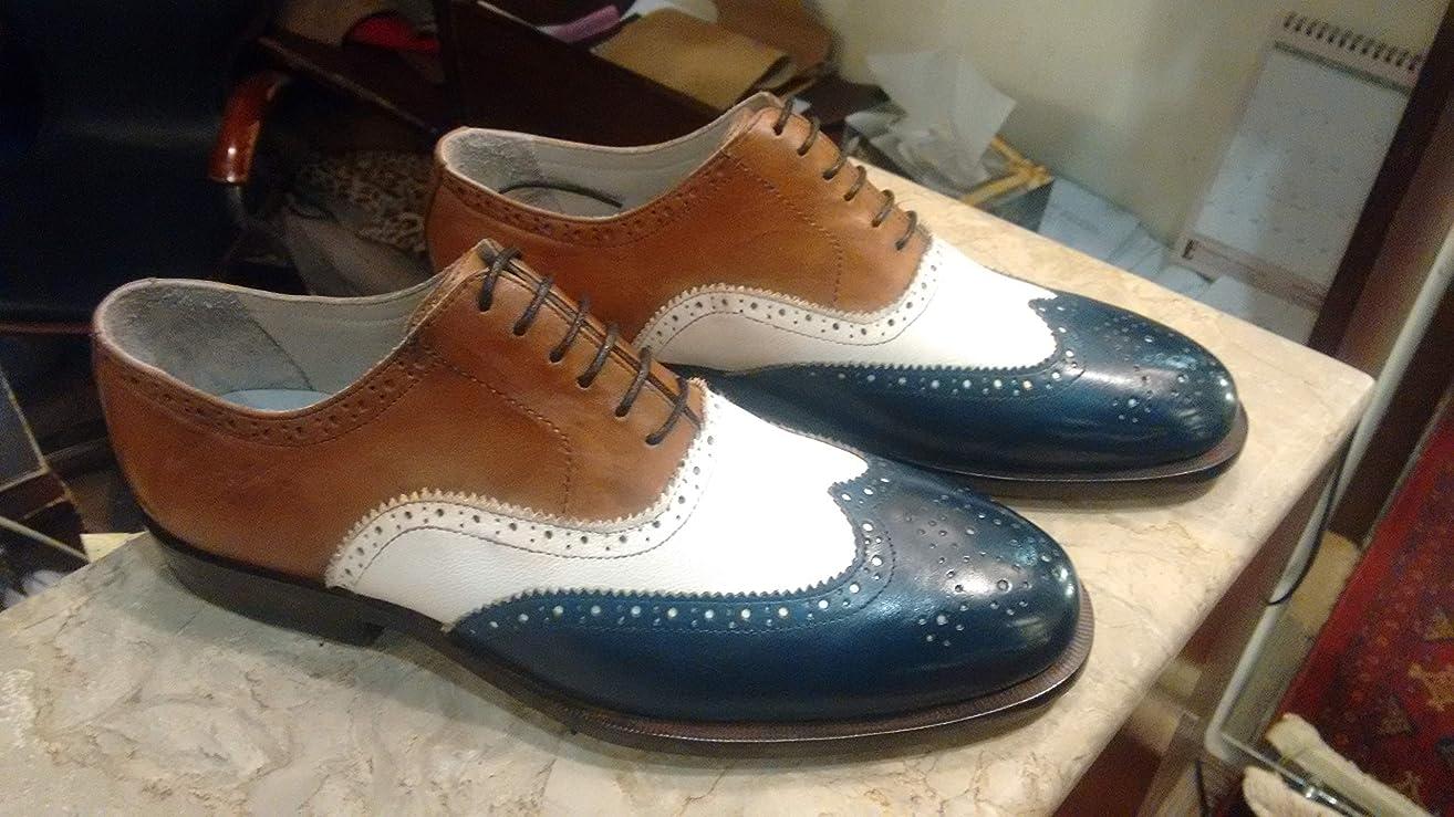 Handmade Correspondent Wingtip Oxfords For Men Custom Made Shoes for Men