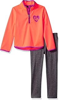 Under Armour Girls` Little Track Jacket and Pant Set